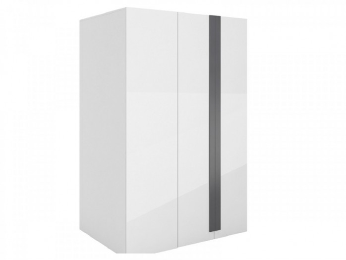Walk-in closet Y-00 Right White/ white high gloss Front (MDF)/Grey