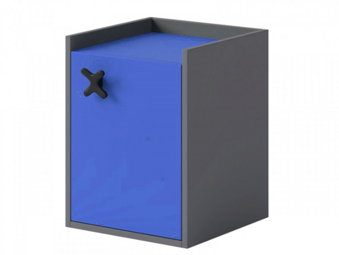 Container IKS  with 1 door Anthracite / Royal Blue