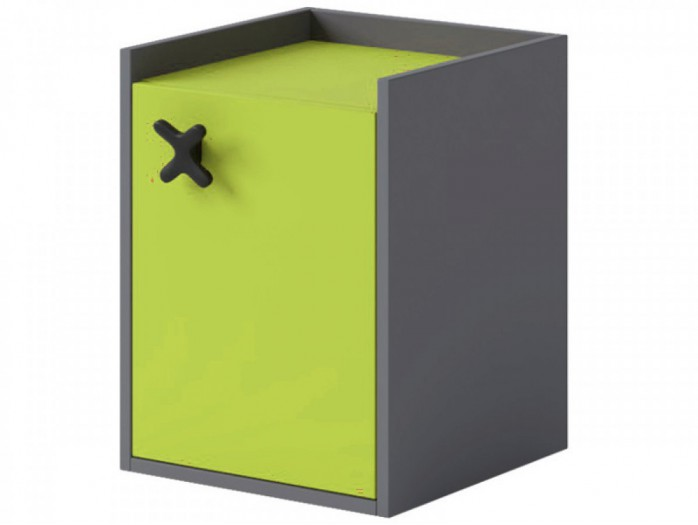 Container IKS  with 1 door Anthracite / Green
