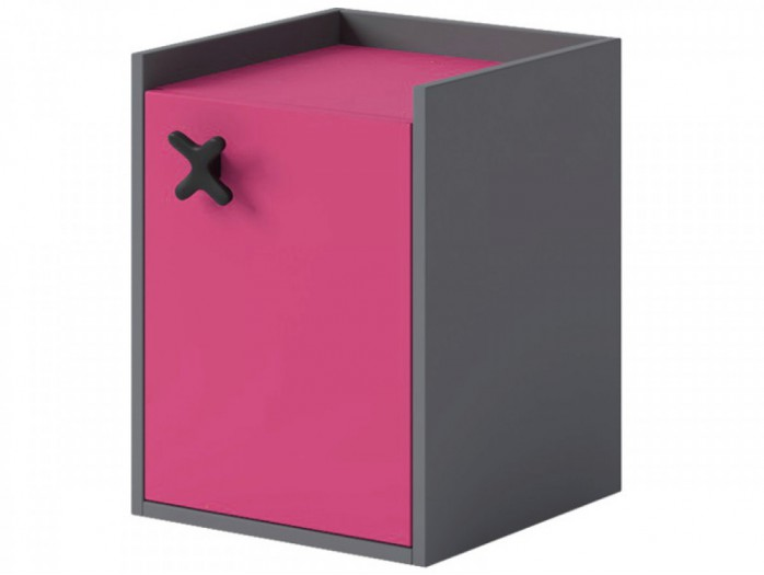Container IKS  with 1 door Anthracite / Pink