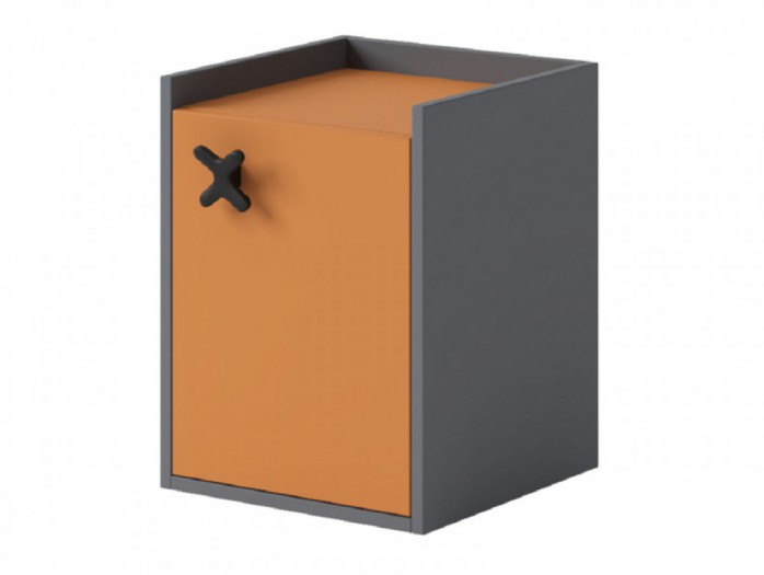 Container IKS  with 1 door Anthracite / Orange