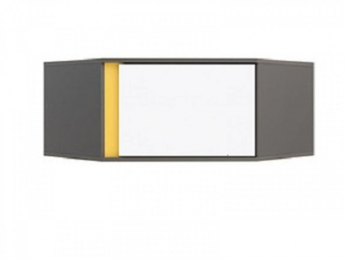 Corner wall  shelf  NAD1D / SZFN White / Yellow
