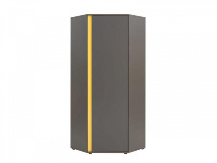 Corner wardrobe Graphic SZFN1D Grey / Yellow