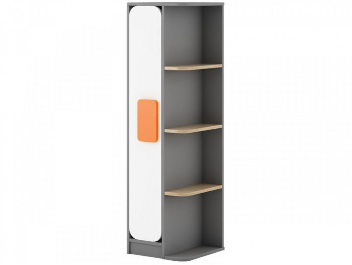 Corner Shelf Jogo 40 cm Grey/ Oak / White / Orange