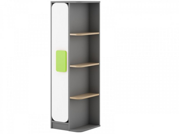 Corner Shelf Jogo 40 cm Grey/ Oak / White / Green