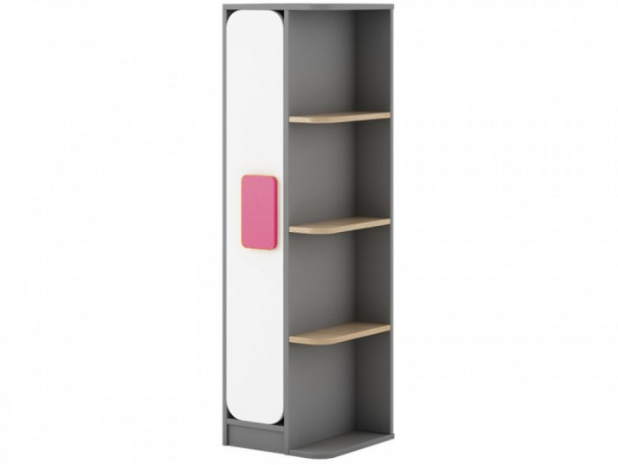 Corner Shelf Jogo 40 cm Grey/ Oak / White / Pink
