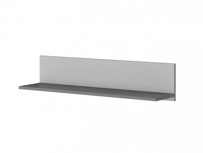Wall shelf POKO Anthracite / light gray