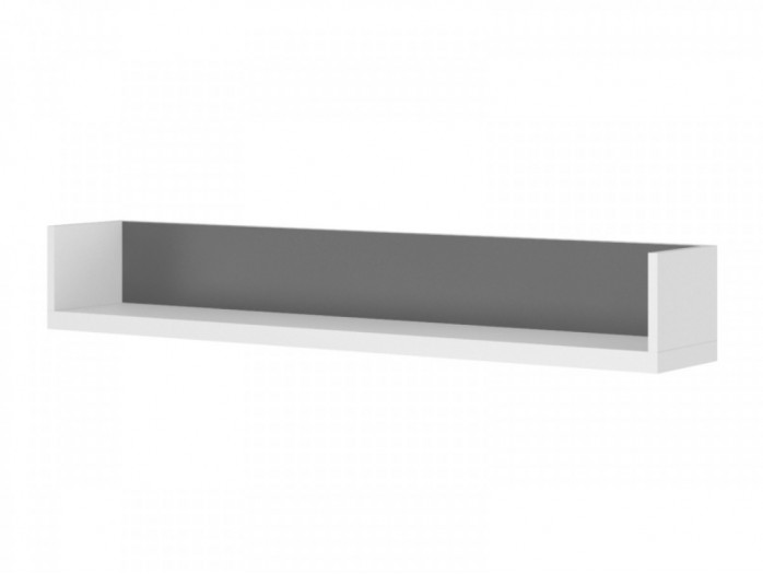 Wall shelf  90cm Y-13 White/  Grey