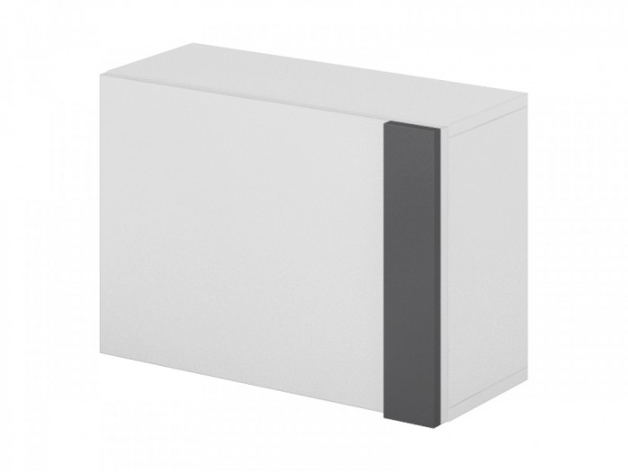 Hanging cabinet  Y-09 with White glossy front/ Grey
