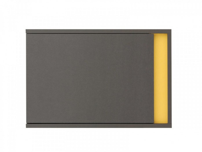 Hanging Cabinet  Graphic SFW1DL Left Grey/ Yellow
