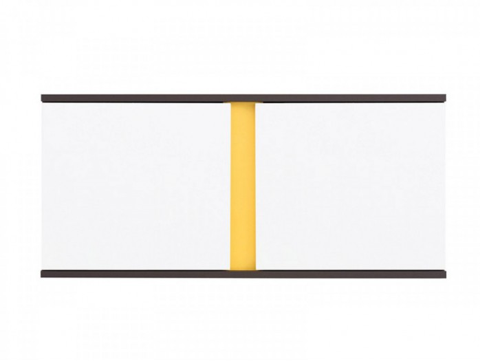 Hanging Cabinet  Graphic SFW2D / 86/38 White/ Yellow / Grey