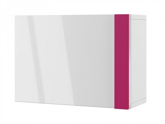 Hanging cabinet  Y-09 with White glossy front/ Pink