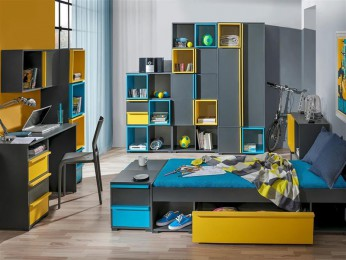 Youth Room BICO 01 Anthracite / Blue / Yellow