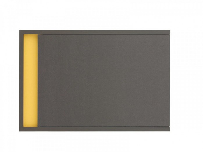 Hanging Cabinet  Graphic SFW1DP Right Grey/ Yellow