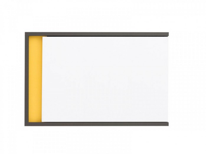 Hanging Cabinet  Graphic SFW1DP Right White/ Yellow / Grey