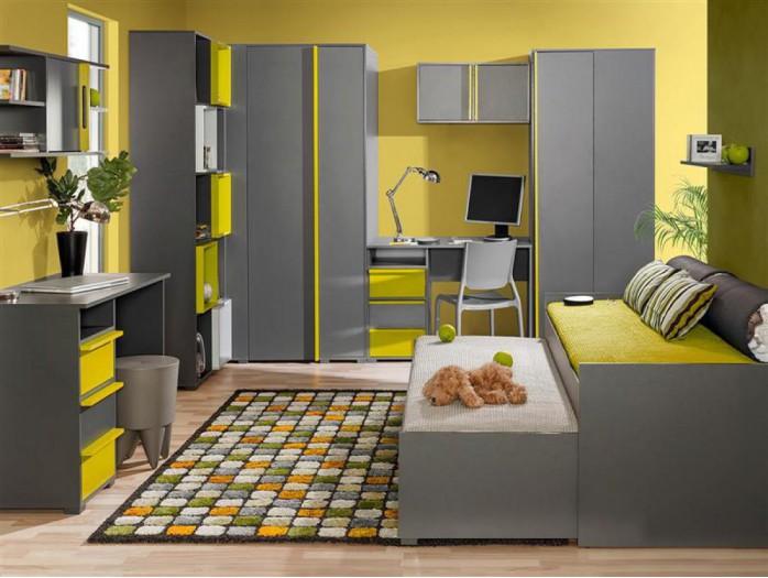 jugendzimmer f r m dchen jungen bico 05 7 tlg anth. Black Bedroom Furniture Sets. Home Design Ideas