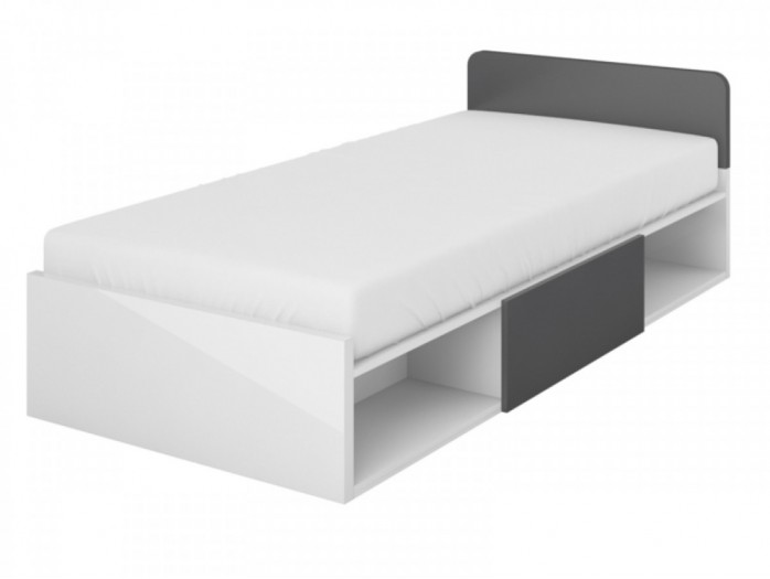 Youth bed  Y-16 with the drawer White/ Grey