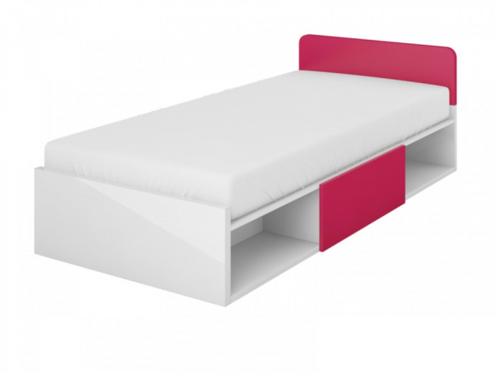 Youth bed  Y-16 with the drawer White/ Pink