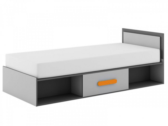 Child\'s bed Play Anthracite / Grey/ Orange