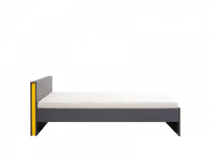 Platform bed  incl. Slates Grey/Yellow