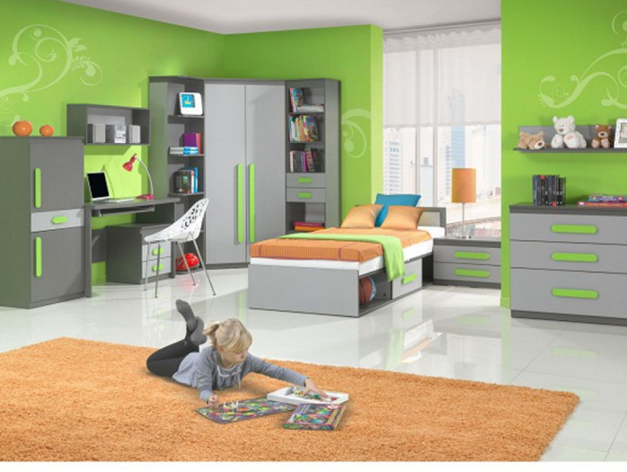 Youth Room PLAY 01(10pc)  Anthracite / Grey/ Green