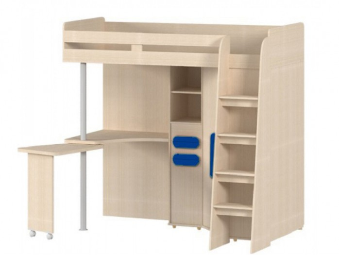 Bunk bed L-85 Right incl. Wardrobe Table