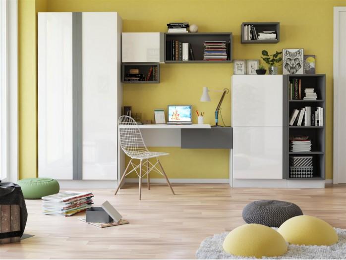 kommode y 06 wei wei mit hochglanzfront grau 144 95. Black Bedroom Furniture Sets. Home Design Ideas