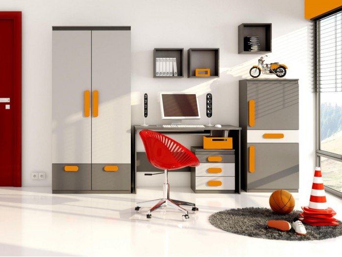 Youth Room Play 05 (6 pcs.)  Anthracite / Grey / Orange