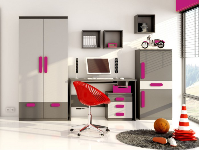 Youth Room Play 05 (6 pcs.)  Anthracite / Grey / Pink