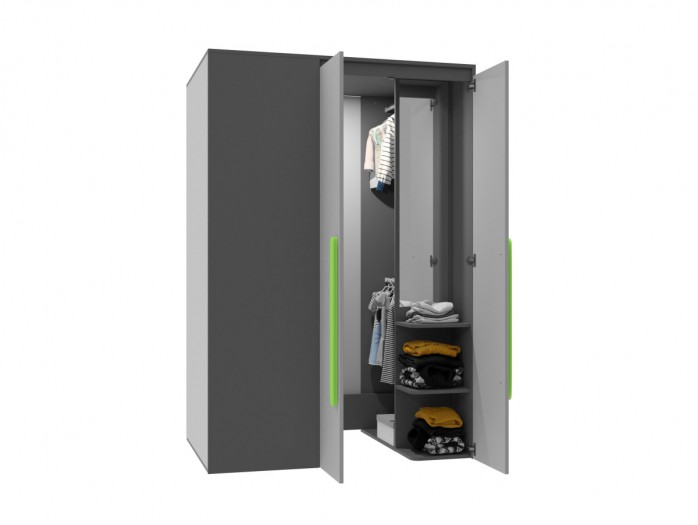 Walk-in closet Right Anthracite / Grey / Green