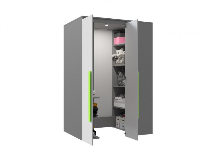 Walk-in closet Left Anthracite / Grey / Green