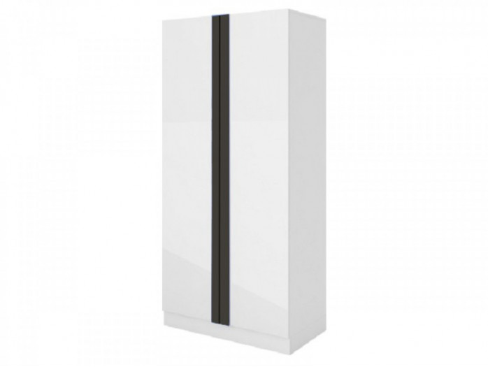 Wardrobe Y-18 White /with glossy front/ Grey