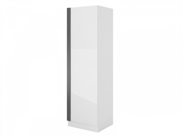 Wardrobe Y 01Yeti  White/ with glossy front/ Grey