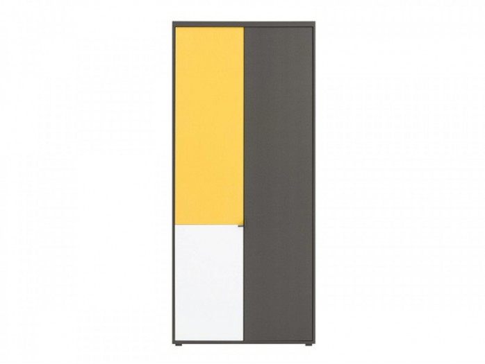 Highboard cabinet  Graphic REG2D Grey/ White /Yellow