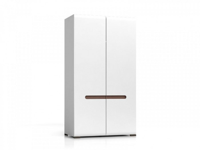 Wardrobe Azteca White/high gloss