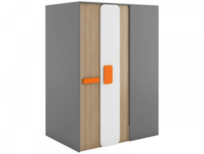 Begehbarer Kleiderschrank JOGO Links 130 cm Grau/Eiche/Orange
