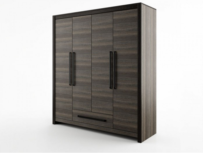 Wardrobe Denver Dn-19 Wenge Mali / Black