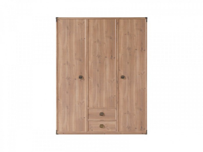 Wardrobe with 3 doors and 2 drawers Indiana  Antique pine