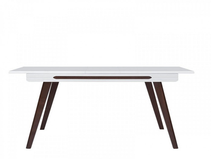 Dinning Table Azteca white/white with gloss front