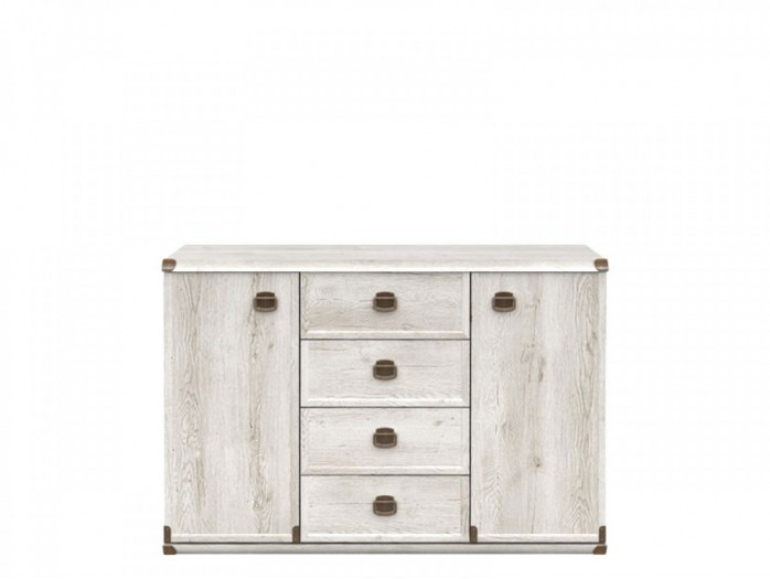 Dresser with 4 Drawers and 2 Doors  Indiana Pine Canyon