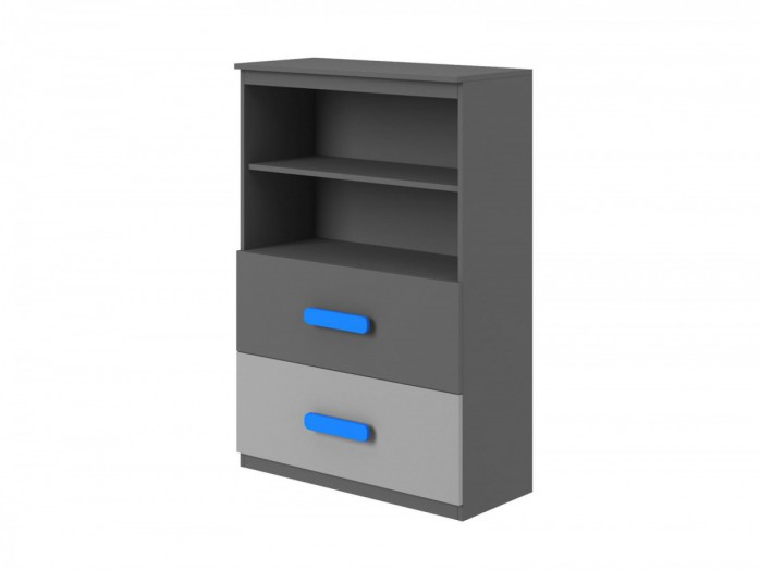 Chest of drawers  Play Anthracite / Grey / Turquoise .