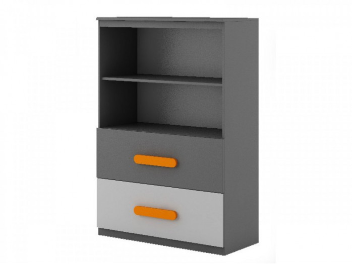 Chest of drawers  Play Anthracite / Grey / Orange