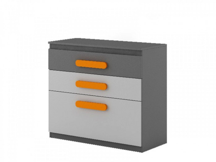 Sideboard Play Anthrazit/Grau/Orange