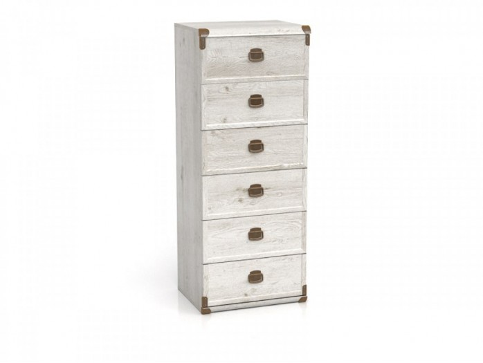 Dresser with 6 drawers Indiana Pine Canyon