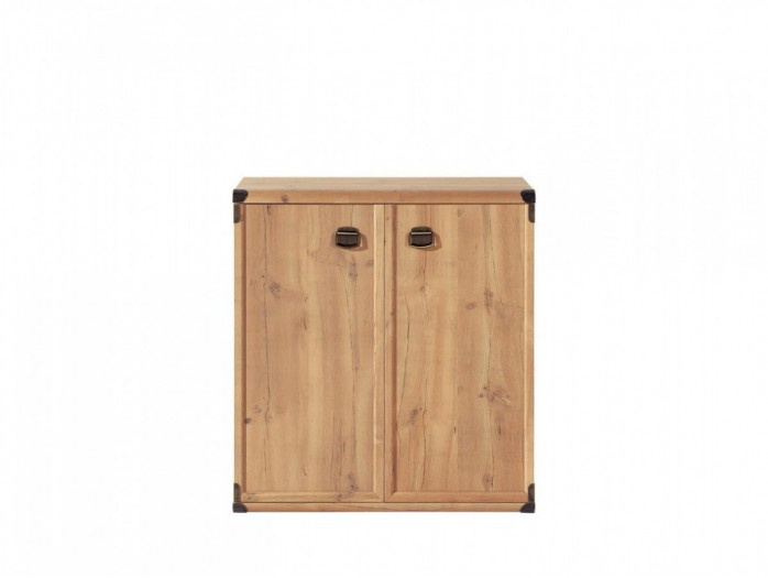 Chest Indiana with 2 doors antique pine