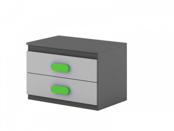 Nightstand Play Anthracite / Grey / Green