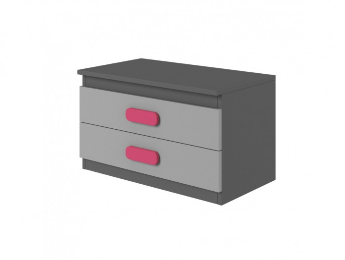 Nightstand Play Anthracite / Grey / Pink