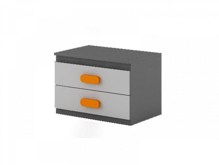 Nightstand Play Anthracite / Grey / Orange