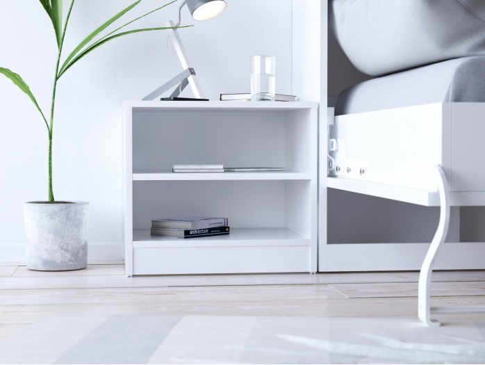 SMART bedside table white