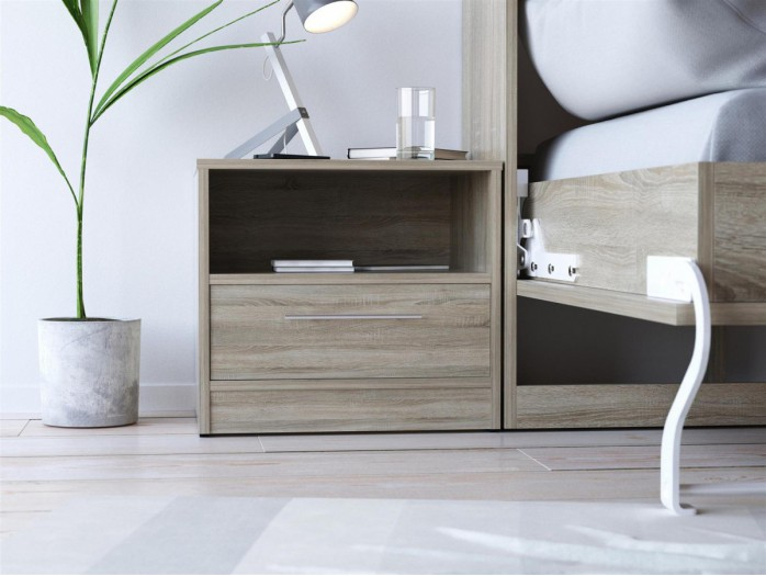 SMART bedside table with drawer Oak Sonoma